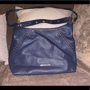 Michael Kors Navy blue Medium shoulder leather